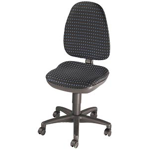 Topstar Point 30 office chair, black-blue TOPSTAR PO30H61