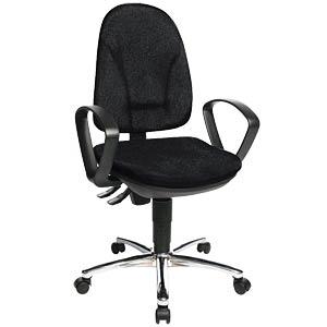 Topstar Steel Point 30 office chair, black TOPSTAR PO39BG20