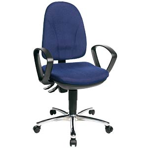 Topstar Steel Point 30 office chair, blue TOPSTAR PO39BG26