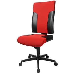 Topstar Bürostuhl Two 20 rot, schwarz TOPSTAR TF200 S101