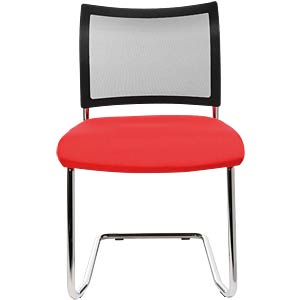 Topstar Visit 20 visitor chair, red, pack of 2 TOPSTAR VISIT20RT
