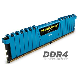 16 GB DDR4 2400 CL14 Corsair Kit of 4 CORSAIR CMK16GX4M4A2400C14B