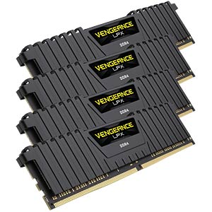 64 GB DDR4 2400 CL14 Corsair Kit of 4 CORSAIR CMK64GX4M4A2400C14
