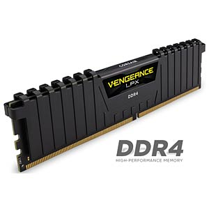 32 GB DDR4 3200 CL16 Corsair Kit of 4 CORSAIR CMK32GX4M4B3200C16