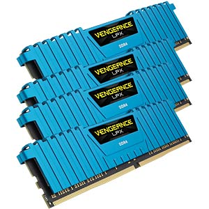 32 GB DDR4 2400 CL14 Corsair Kit of 4 CORSAIR CMK32GX4M4A2400C14B