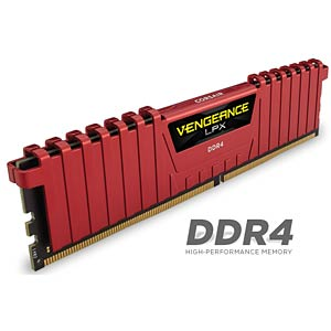16 GB DDR4 2400 CL14 Corsair Kit of 4 CORSAIR CMK16GX4M4A2400C14R