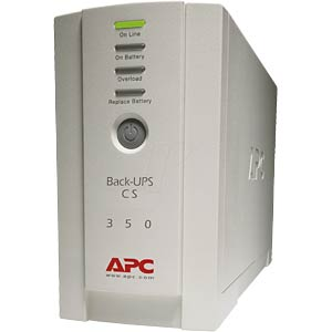 APC Back-UPS CS, 210 watts/350 VA If service is required, please APC BK350EI