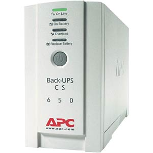 APC Back-UPS CS, 400 watts/650 VA If service is required, please APC BK650EI