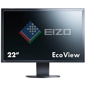 56 cm, VGA/DVI/DP/USB/Audio, pivot, black — hotline for Germany: EIZO EV2216WFS3-BK