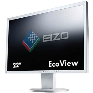 56 cm, VGA/DVI/DP/USB/Audio, pivot, grey — hotline for Germany: EIZO EV2216WFS3-GY