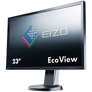 58 cm, VGA/DVI/DP/USB/Audio, pivot, black — hotline for Germany: EIZO EV2316WFS3-BK