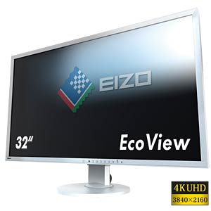 80 cm, DVI/2xDP/HDMI/USB/Audio, pivot, UHD, grey — EEK A hotline EIZO EV3237-GY