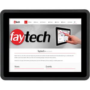 20cm Touchmonitor, schwarz, IP65, EEK A FAYTECH FT08TMBCAP