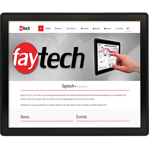 43,2 cm - Touch monitor, black - IP65 - EEC C FAYTECH FT17TMBCAP
