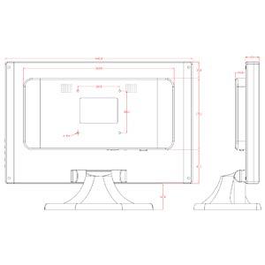48cm - touch - VGA - black - EEK B FAYTECH FT19TMB