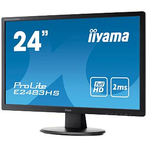 61cm - VGA/DVI/HDMI/Audio - 1080p - EEK A IIYAMA E2483HS-B1