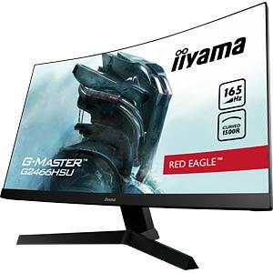 60cm Monitor, 1080p, Curved, Lautsprecher, EEK A IIYAMA G2466HSU-B1