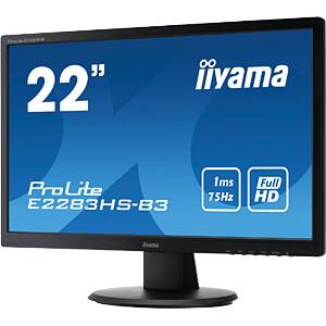 55cm Monitor, ProLite E2283HS, EEK B IIYAMA E2283HS-B3