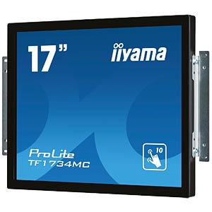 43cm Touchmonitor, 10 Punkt, Open Frame IIYAMA TF1734MC-B1X