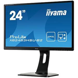 61cm - VGA/DVI/HDMI/USB/Audio - 1080p - Pivot - EEC B IIYAMA XB2483HSU-B2