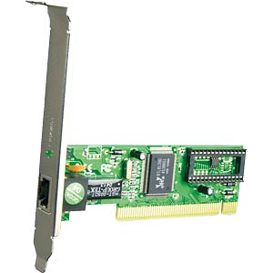 PCI network card, Ethernet TP 10/100 Mbit/s FREI