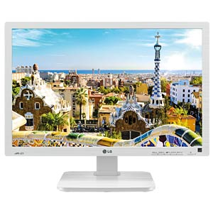 61cm Monitor, USB, Lautsprecher, Pivot, weiß LG 24BK55WY-W.AEU