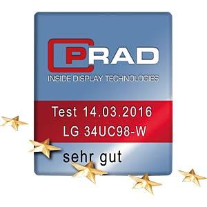 86cm - 2xHDMI/DP/TB/Audio/USB3.0 21:9 - EEK B LG 34UC98-W.AEU