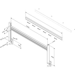 LCD rack for table-top mounting ROLINE 17.03.1160