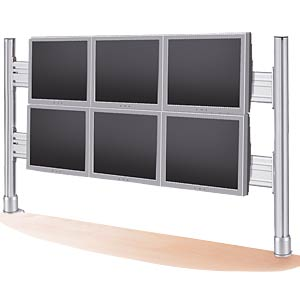 LCD rack for 2x3 monitors, table-top mounting ROLINE 17.03.1162