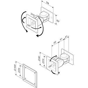 LCD-Befestigung für Brücke, bis 14 kg ROLINE 17.03.1166