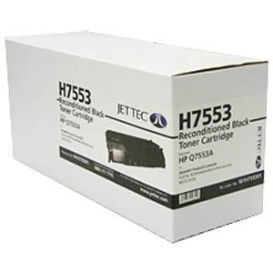 Toner - HP - schwarz - Q7553X - rebuilt JET TEC 137H755330