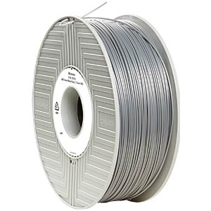 ABS Filament - silver/metal grey - 1,75 mm - 1 kg VERBATIM 55016