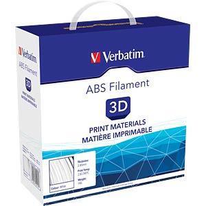 ABS Filament - white - 2,85 mm - 1 kg VERBATIM 55017