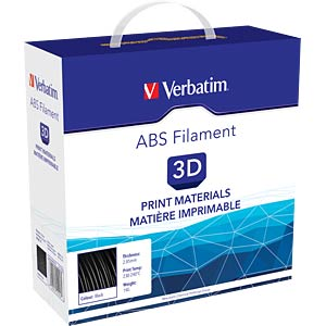 ABS Filament - black - 2,85 mm - 1 kg VERBATIM 55018
