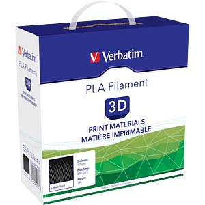 PLA Filament - black - 1,75 mm - 1 kg VERBATIM 55267