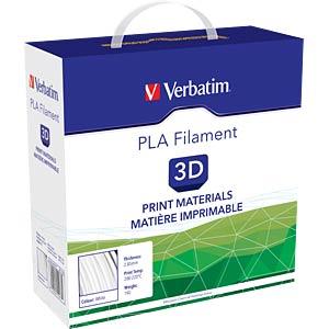 PLA Filament - weiß - 2,85 mm - 1 kg VERBATIM 55277