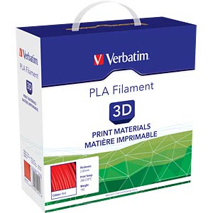 PLA Filament - rot - 2,85 mm - 1 kg VERBATIM 55279