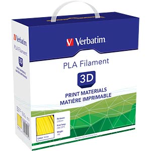 PLA Filament - yellow - 2,85 mm - 1 kg VERBATIM 144-812
