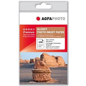 DIN A6, Inkjet, Fotopapier, 210 g/m², 100 Blatt AGFAPHOTO AP210100A6