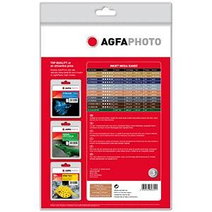 DIN A4, Inkjet Glossy, Fotopapier, 210 g/m², 50 Blatt AGFAPHOTO AP21050A4