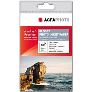 DIN A6, Inkjet, Fotopapier, 240 g/m², 100 Blatt AGFAPHOTO AP240100A6