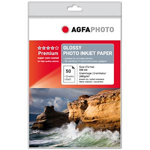 50 A4 sheets/glossy, 240 g/m² AGFAPHOTO AP24050A4