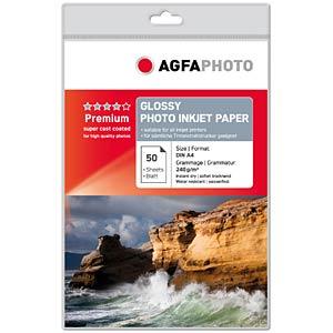 DIN A4, Inkjet, Fotopapier, 240 g/m², 50 Blatt AGFAPHOTO AP24050A4
