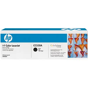 Toner for HP CP2025N, CM2320FXI…, black HEWLETT PACKARD CC530A