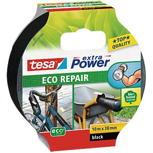Gewebeband tesa extra Power® Eco Repair, 10 m x 38 mm, schwarz TESA 56431-00000-00