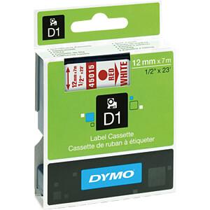 DYMO D1 Schriftband, 12mm, rot/weiß DYMO S0720550