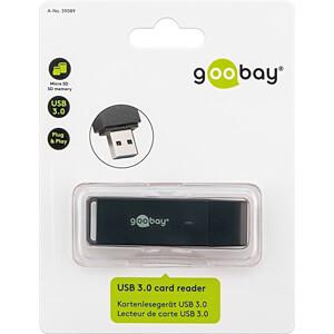 Czytnik kart, zewnętrzny, USB 3.0, microSD, SD GOOBAY 59089