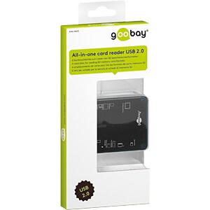 Card Reader, extern,  USB 2.0, All-in-1 GOOBAY 95674