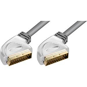 SCART cable, 2.5 metres, solid metal plug FREI