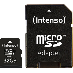 MicroSDHC-Speicherkarte 32GB - Intenso Class 10 - UHS-1 INTENSO 3423480